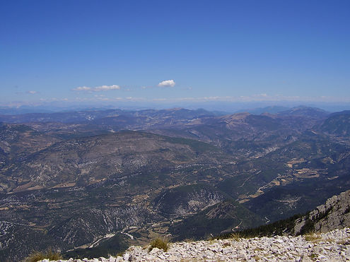 view from the mont ventoux