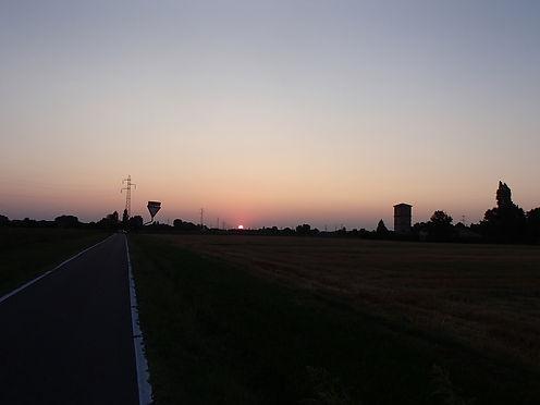 Italy setting sun