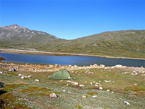 camping in tents in greenland
