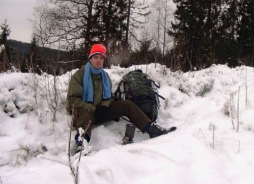 hiking in the winter in oslo
