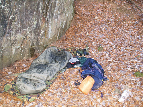 wild camping in the vosges