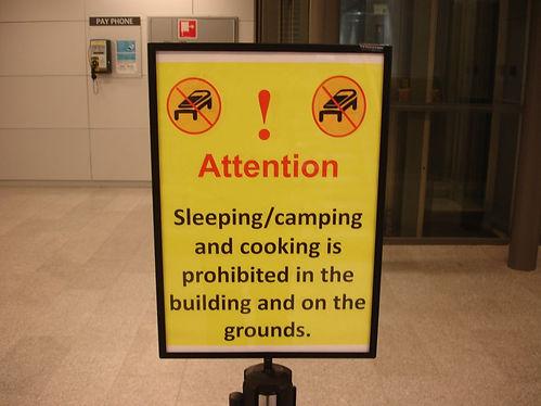 sleeping at keflavik airport