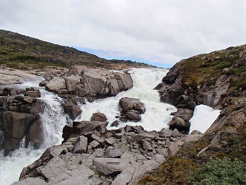 waterfall in south greenland