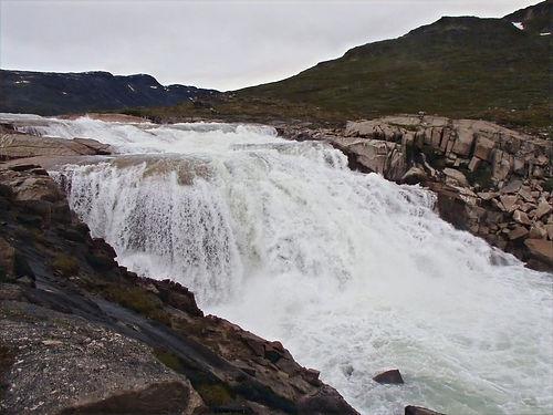 waterfall in greenland
