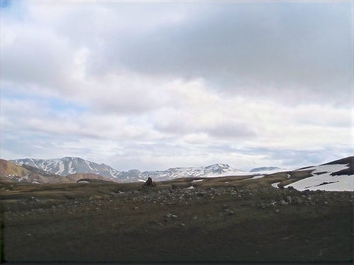 hiking iceland in the mountains