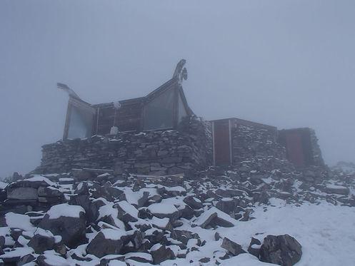 cabin on top of galdhoppigen