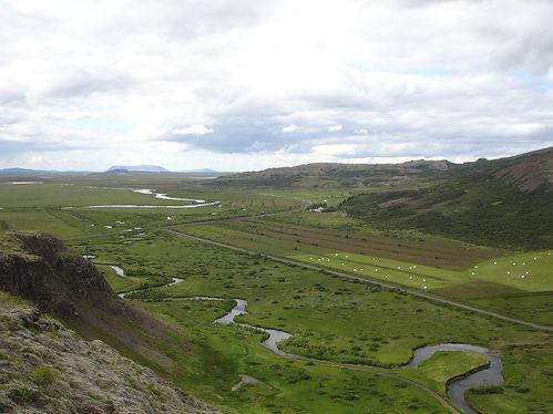 icelandic farm fields