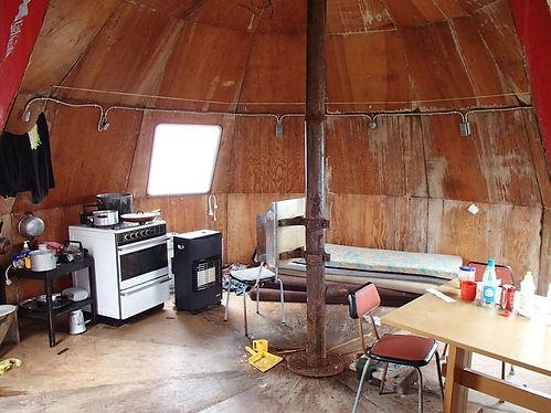 inside a greenlandic shelter