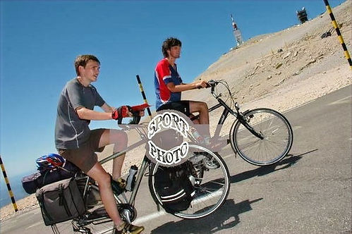 bram and bart climbing the mont ventoux