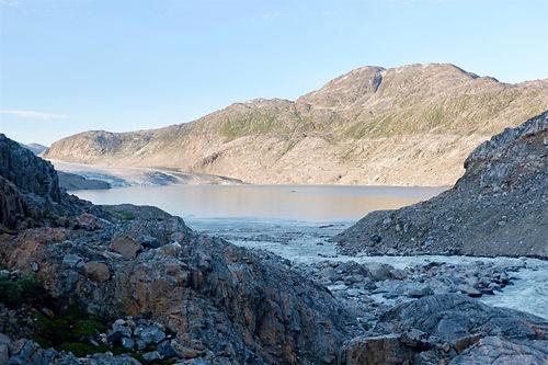 glacial lake in greenland