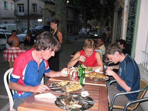 Eating in Bedoin