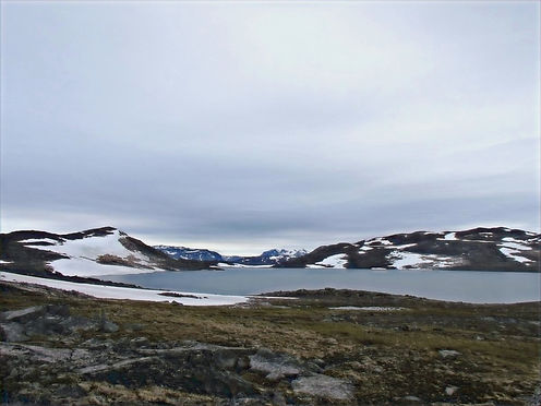 hiking in the artic