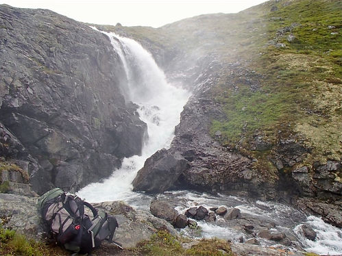 waterfalls in jotunheimen