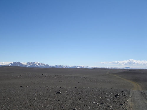 dry plains in iceland