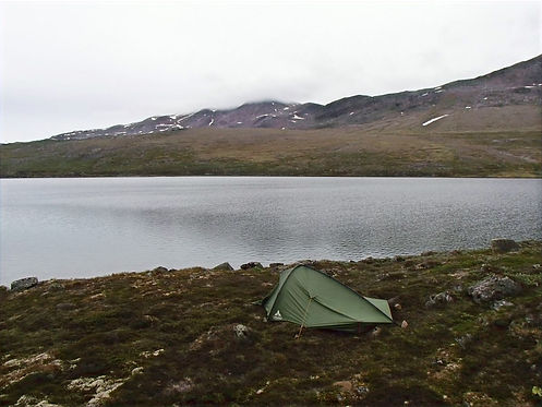 solo camping in greenland