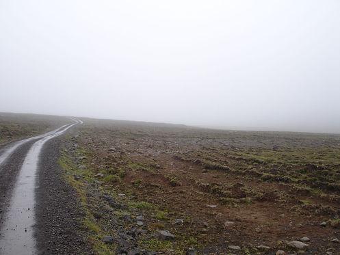 rainy road in iceland