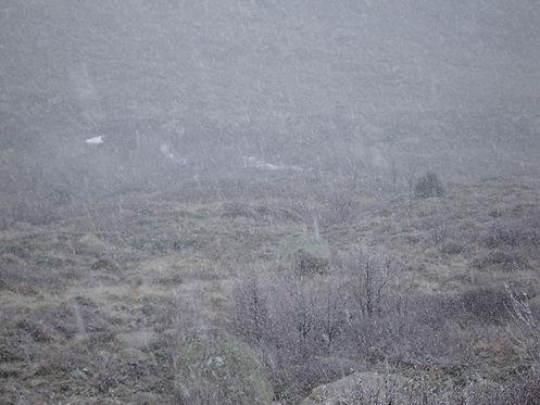 snow along the gr20