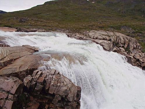 waterfall north of narsarsuaq