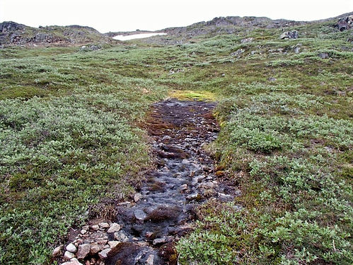 river running out of the permafrost
