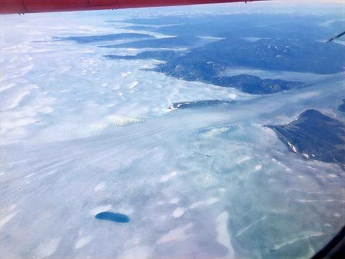 greenlandic glacier from a plane