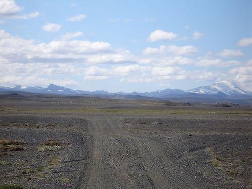 Icelandic lava fields