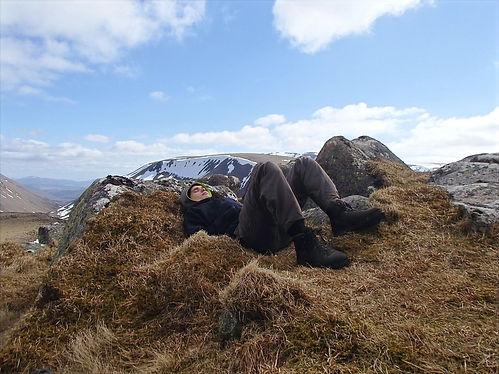 taking a break in cairngorms