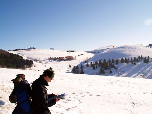 winter hike in the black forest