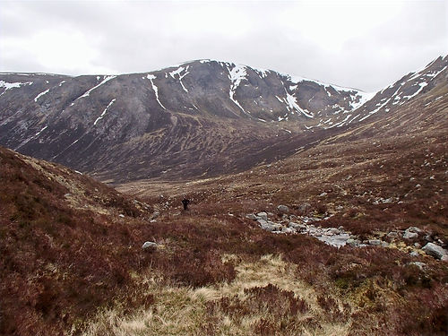 mountain valley in the cairngorms