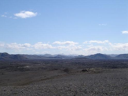lava fields in iceland