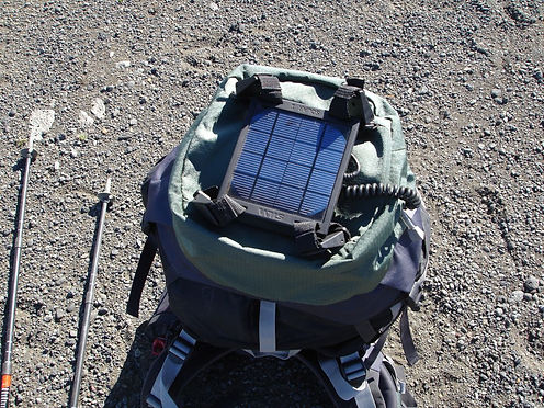 solar charger in iceland