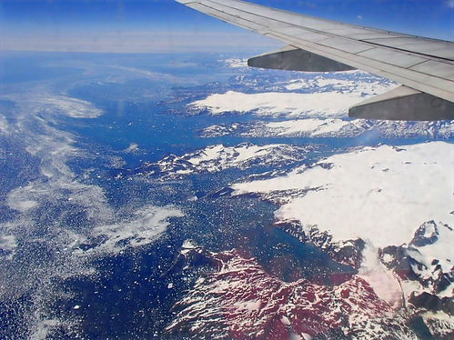 greenland from an airplane