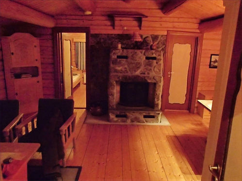 inside a mountain cabin