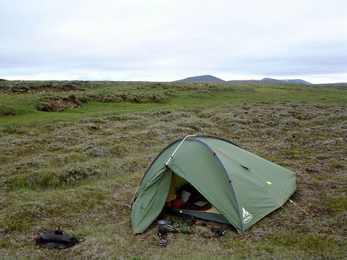 wild camping iceland