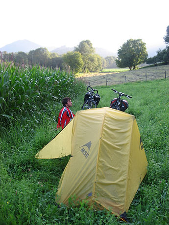 wild camping in France