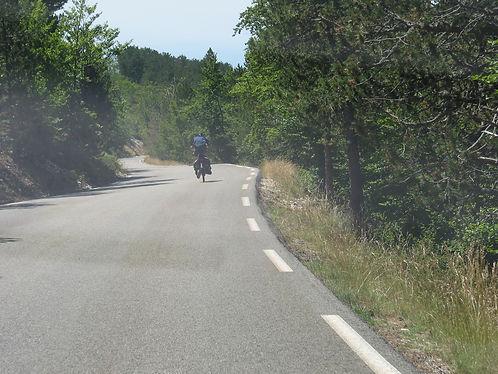 Descent of the Mont Ventoux