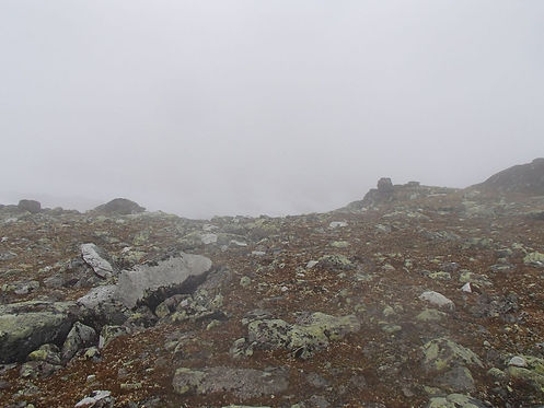 fog while hiking