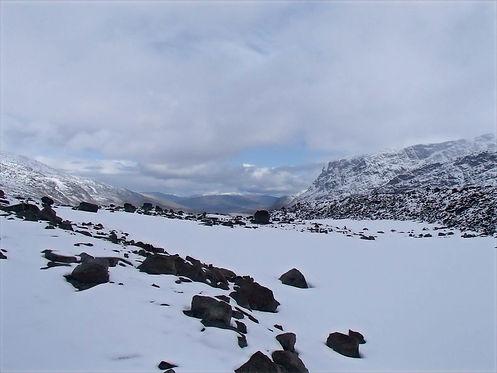 snow in jotunheimen