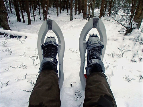 hiking in norway with snowshoes