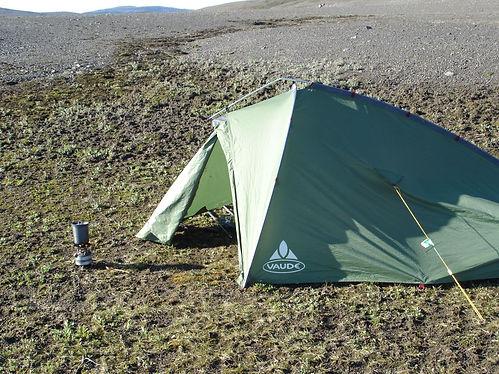 vaude tent in iceland