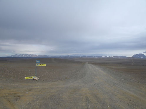 cross road in iceland