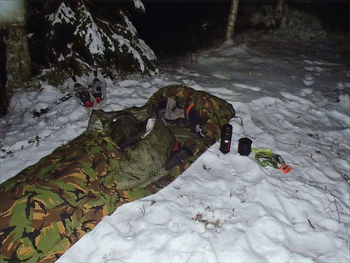 Winter hiking near oslo