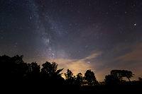 Noite estrelada e vivida