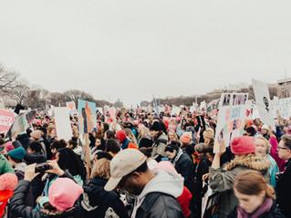 ワシントンDCでのデモ活動
