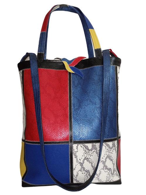 Art Marqueterie Couture - Sac Mondrian Poches Sécurisées ® Karl Backwell