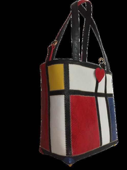 Art Marqueterie Couture - Sac Mondrian - Poches Sécurisées ® Karl Backwell