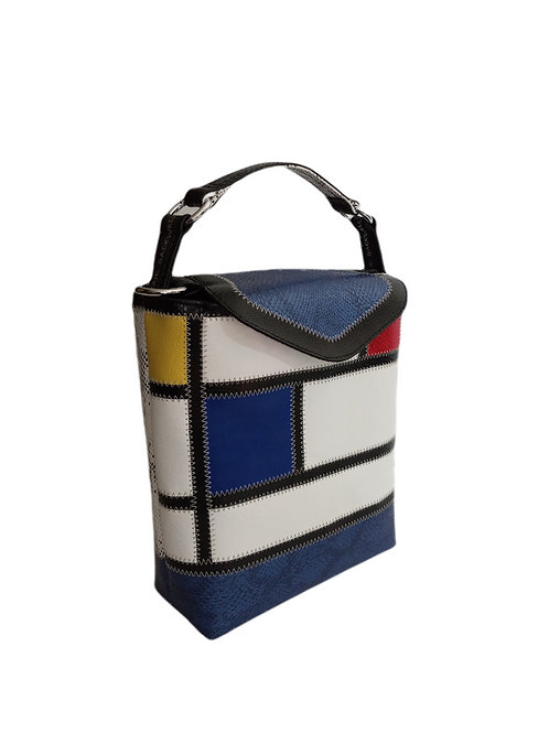 Art Marqueterie Couture - Sac Mondrian - Poches Sécurisées ® Karl Backwell
