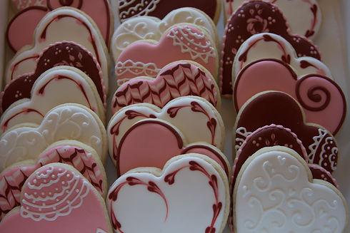 Valentine Royal Icing Heart Shaped Sugar Cookies