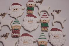 Santa, Elf, and Reindeer Sugar Cookies