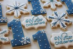 Winter ONEderland Birthday Sugar Cookies