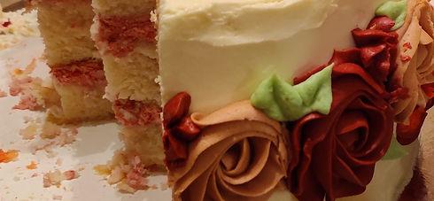Raspberry Buttercream Two Tier Birthday Cake